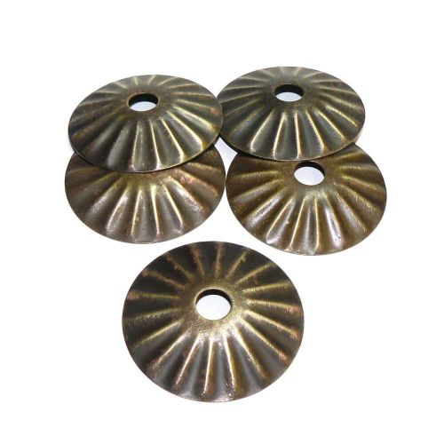 Solid Brass Fluted Sconce Antique Finish M10 hole x 55mm Diameter Pack of 5
